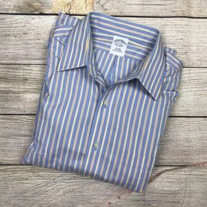BROOKS BROTHERS Slim fit non iron dress shirt 16 L
